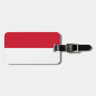 Etiqueta De Bagagem Baixo custo! Bandeira de Indonésia