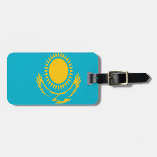 Etiqueta De Bagagem Baixo custo! Bandeira de Kazakhstan