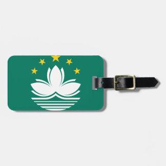 Etiqueta De Bagagem Baixo custo! Bandeira de Macau