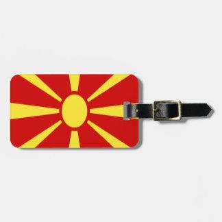 Etiqueta De Bagagem Baixo custo! Bandeira de Macedónia