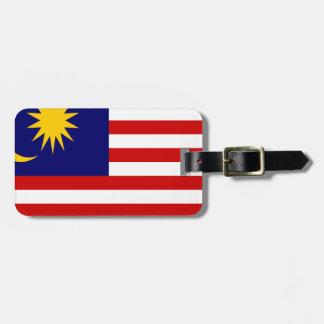Etiqueta De Bagagem Baixo custo! Bandeira de Malaysia