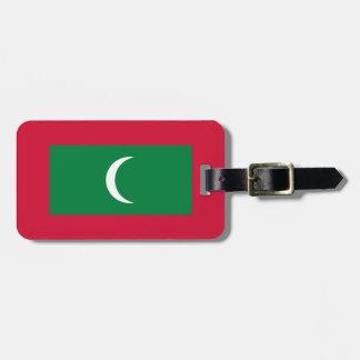 Etiqueta De Bagagem Baixo custo! Bandeira de Maldives