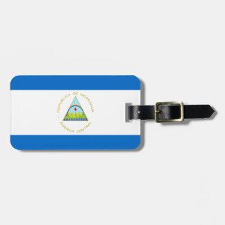 Etiqueta De Bagagem Baixo custo! Bandeira de Nicarágua