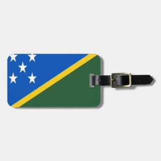 Etiqueta De Bagagem Baixo custo! Bandeira de Solomon Island