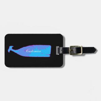 Etiqueta De Bagagem baleia azul Thunder_Cove subaquático alguma cor