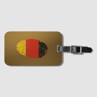 Etiqueta De Bagagem Bandeira alemão da impressão digital do toque