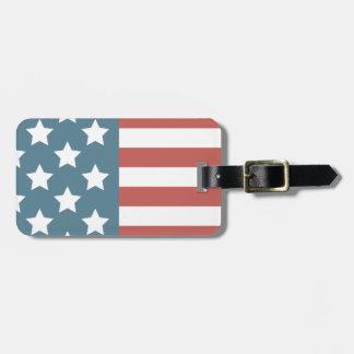 Etiqueta De Bagagem Bandeira americana