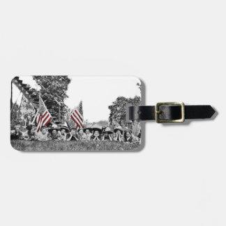 Etiqueta De Bagagem Bandeira americana das mulheres patrióticas do