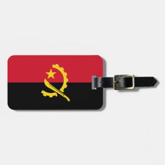 Etiqueta De Bagagem Bandeira angolana patriótica