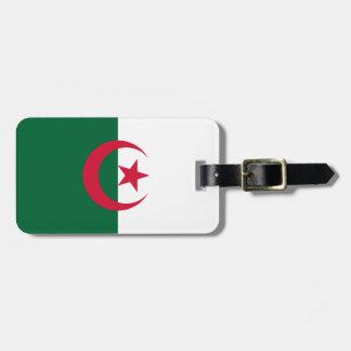 Etiqueta De Bagagem Bandeira argelino patriótica