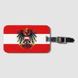 Etiqueta De Bagagem Bandeira austríaca