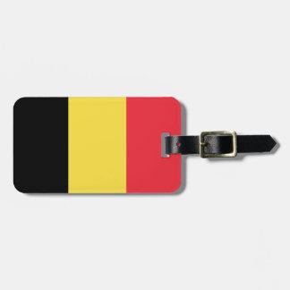 Etiqueta De Bagagem Bandeira belga patriótica
