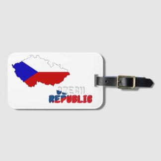 Etiqueta De Bagagem Bandeira checa
