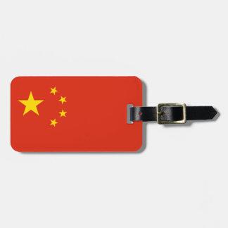 Etiqueta De Bagagem Bandeira chinesa patriótica