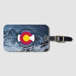 Etiqueta De Bagagem Bandeira da circular de Colorado