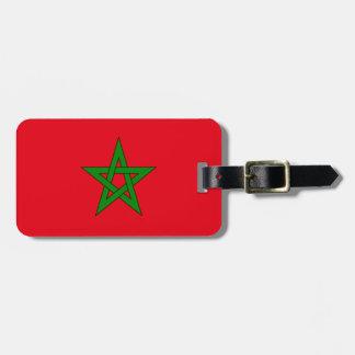 Etiqueta De Bagagem Bandeira da identificação fácil de Marrocos