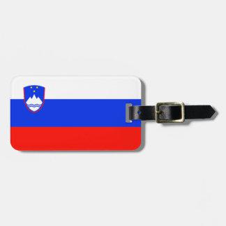 Etiqueta De Bagagem Bandeira da identificação fácil de Slovenia