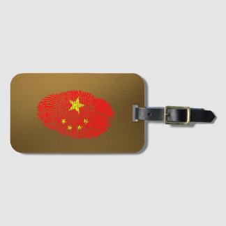 Etiqueta De Bagagem Bandeira da impressão digital do toque do chinês