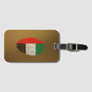 Etiqueta De Bagagem Bandeira da impressão digital do toque do emirado