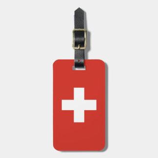 Etiqueta De Bagagem Bandeira da suiça