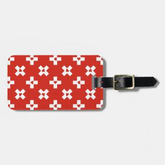 Etiqueta De Bagagem Bandeira da suiça com teste padrão do coração