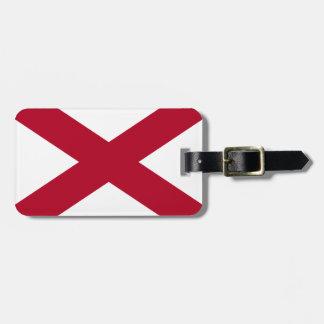 Etiqueta De Bagagem Bandeira de Alabama