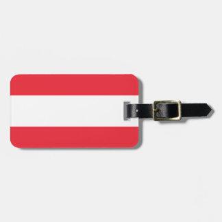 Etiqueta De Bagagem Bandeira de Áustria