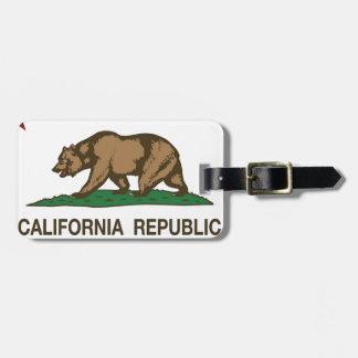 Etiqueta De Bagagem Bandeira de Califórnia