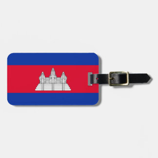 Etiqueta De Bagagem Bandeira de Cambodia