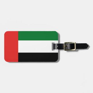 Etiqueta De Bagagem Bandeira de Emiradosarabes
