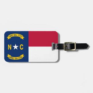 Etiqueta De Bagagem Bandeira de North Carolina