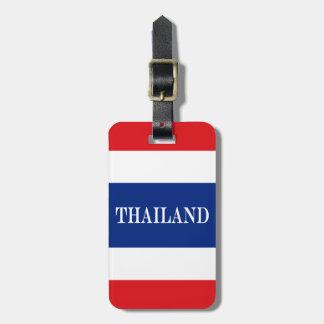 Etiqueta De Bagagem Bandeira de Tailândia