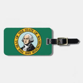 Etiqueta De Bagagem Bandeira de Washington