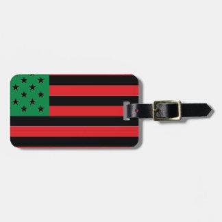 Etiqueta De Bagagem Bandeira do afro-americano - preto e verde