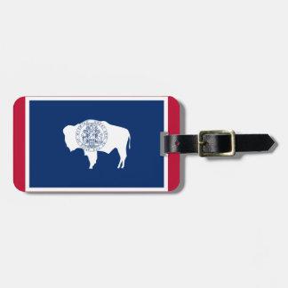 Etiqueta De Bagagem Bandeira do Wyoming