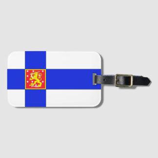 Etiqueta De Bagagem Bandeira finlandesa