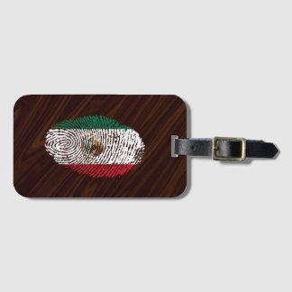 Etiqueta De Bagagem bandeira mexicana da impressão digital do toque