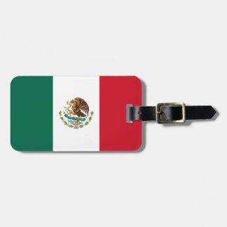 Etiqueta De Bagagem Bandeira mexicana patriótica