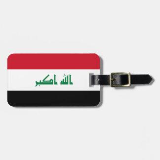 Etiqueta De Bagagem Bandeira nacional do mundo de Iraque