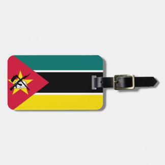 Etiqueta De Bagagem Bandeira nacional do mundo de Mozambique