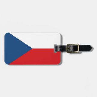 Etiqueta De Bagagem Bandeira patriótica da república checa