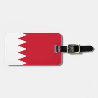 Etiqueta De Bagagem Bandeira patriótica de Barém