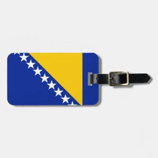 Etiqueta De Bagagem Bandeira patriótica de Bósnia - de Herzegovina