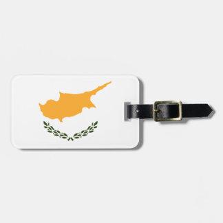 Etiqueta De Bagagem Bandeira patriótica de Chipre