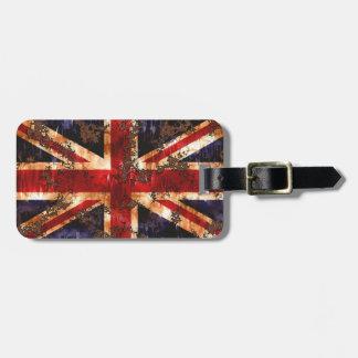 Etiqueta De Bagagem Bandeira patriótica oxidada de Reino Unido