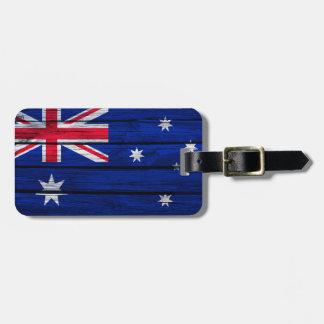 Etiqueta De Bagagem Bandeira rústica de Austrália
