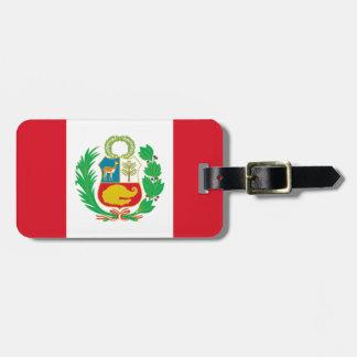 Etiqueta De Bagagem Bandera del Perú - bandeira de Peru