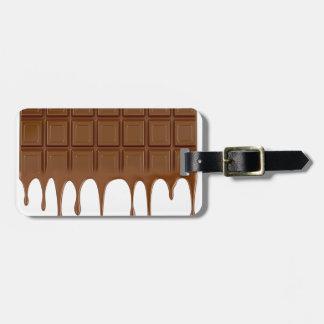 Etiqueta De Bagagem Bar de chocolate derretido