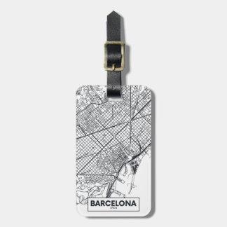 Etiqueta De Bagagem Barcelona, mapa da cidade da espanha  