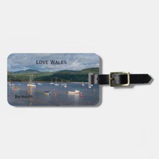 Etiqueta De Bagagem Barcos de Wales do amor em Barmouth